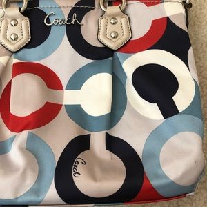 Coach Bags - Coach Ashley OP Art Scarf Mini Tote Handbag